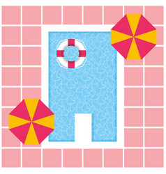 Pool vacations summer time vector