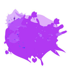 purple violet lilac watercolor stains vector image