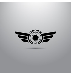 Quadrocopter business icon vector