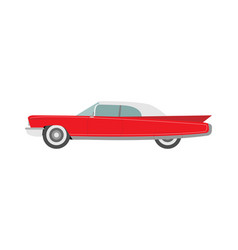 Retro car in a flat style on a white background vector
