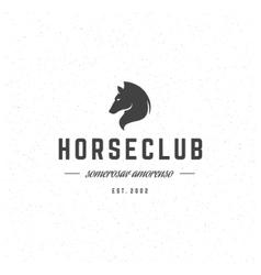 Retro Horse Vintage Insignia or Logotype vector image