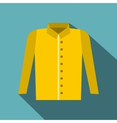Shirt icon flat style vector image vector image
