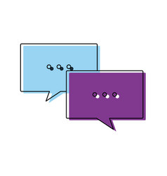 Speech bubbles message chat communication talk vector
