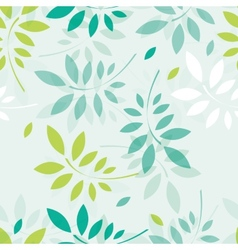 spring background with branches and leaves vector image vector image