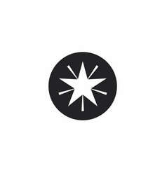 Star icon template design in round shape vector