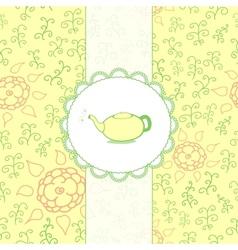 Tea Retro Background vector image