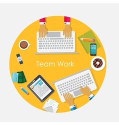 Team Work Flat Concept vector