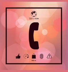 telephone handset telephone receiver symbol icon vector image
