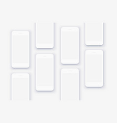 the background mockups white smartphones vector image