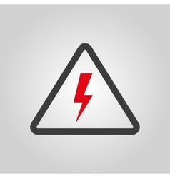 The lightning icon Danger symbol Flat vector image