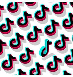 tiktok social network pattern background odessa vector image