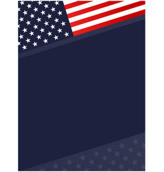 United states abstract flag symbols corner border vector