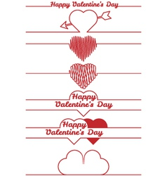 valentines day design elements - dividers vector image