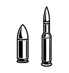 vintage monochrome concept metal bullets vector image