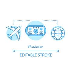 Vr aviation concept icon vector