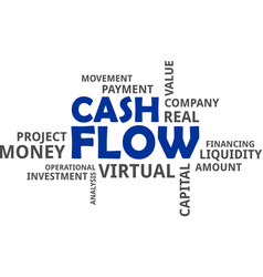 Word cloud - cash flow vector