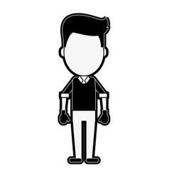 worker avatar full body vector image