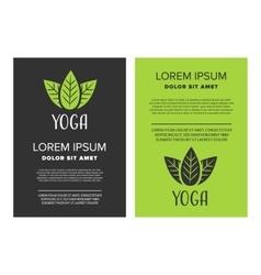 Yoga leaflet design vector