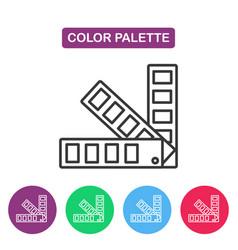 color palette guide logotype design templates vector image