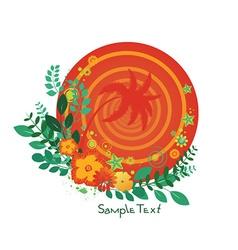 Tropical emblem vector