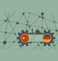economic relations between china and germany vector image vector image
