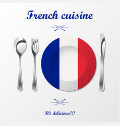 french cuisine cutlery vector image