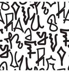 Graffiti background pattern vector
