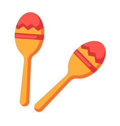 shock-and-noise instrument of indians - maracas vector image vector image
