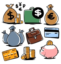 banking icons set 2 vector image vector image