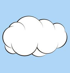 cartoon cloud for comics sketch vector image