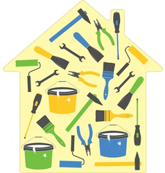 house tools icons vector image vector image