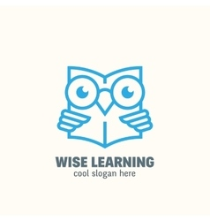 Line Style Smart Education Abstract Logo vector image
