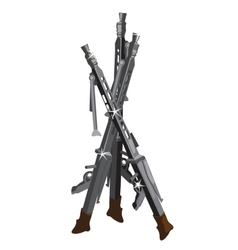 Old muskets vintage guns on a white background vector image
