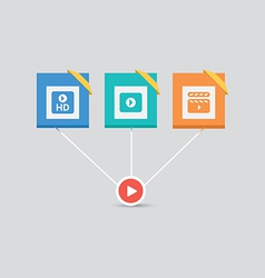 Video Icons 2 vector image