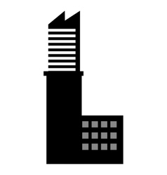 building silhouette construction icon vector image vector image