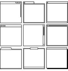 Computer window frames vector image vector image