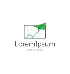 finance or law company logo vector image