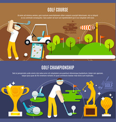 golf competition horizontal banners vector image
