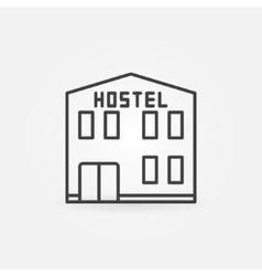 Hostel building icon vector image