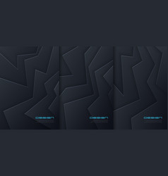 Abstract paper cut backgrounds futuristic vector