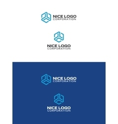 Abstract trio logo vector