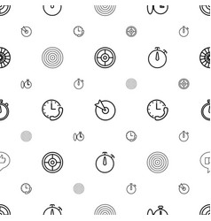 Accurate icons pattern seamless white background vector