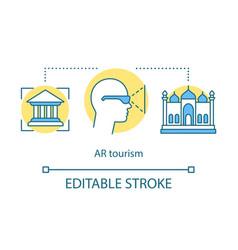 Ar tourism concept icon vector