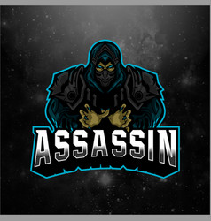 Assassin sport mascot logo vector