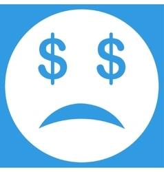 Bankrupt Smiley Icon vector