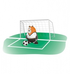 bear soccer goalkeeper vector image