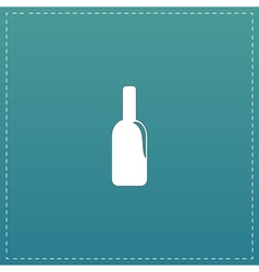 bottle of alcohol icon vector image
