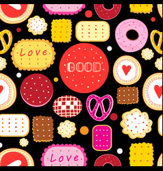 bright seamless pattern multicolored tasty vector image