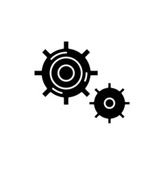 Business processes black icon sign on vector