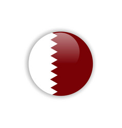 Button qatar flag template design vector